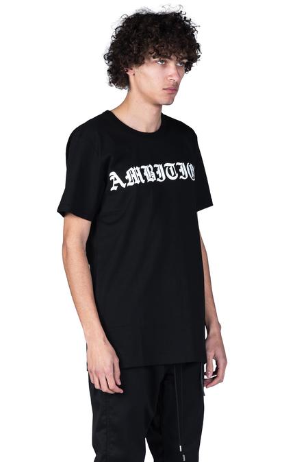 Christian Dada Ambition Print T-shirt - Black
