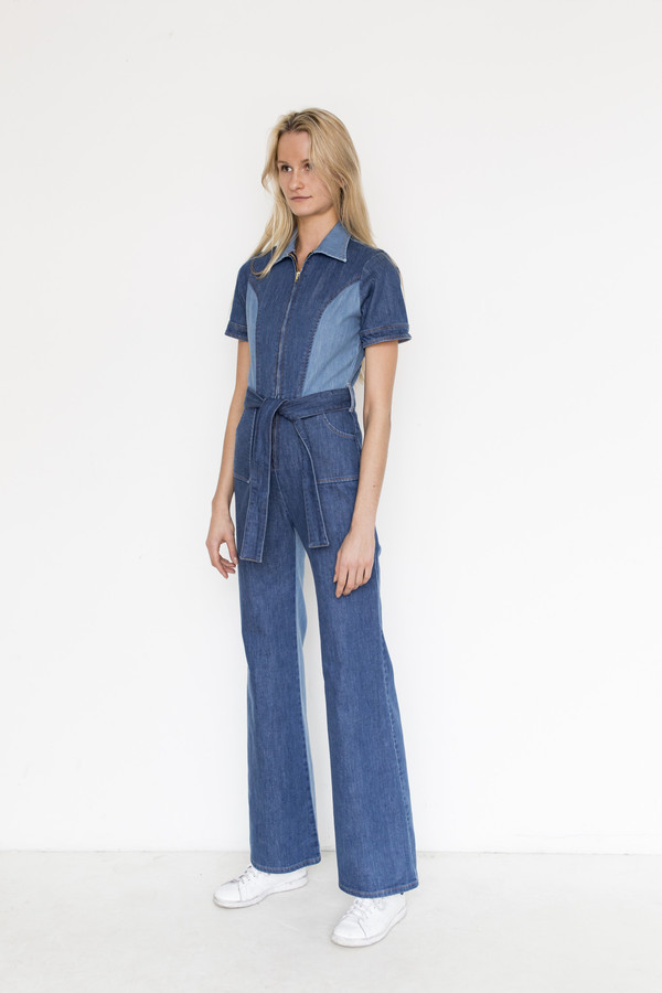 Stoned Immaculate Denim Blue Jean Baby Jumpsuit