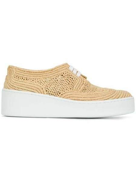 Robert Clergerie Taille Raffia Sneakers - Natural