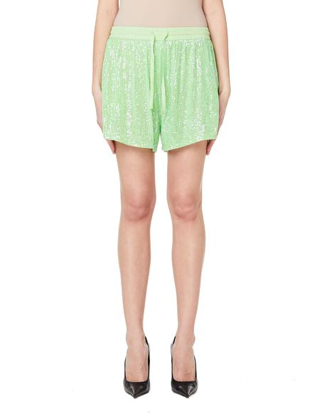 Ashish Sequin Shorts - Green