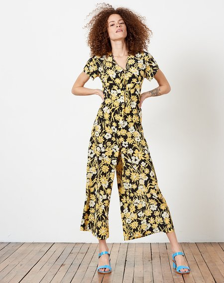 6d74115c540e ... No.6 Miriam V Neck Jumpsuit - Black Meadow