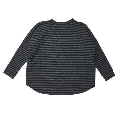 KIDS Bacabuche Long Sleeve Henley - Black/Charcoal Stripe