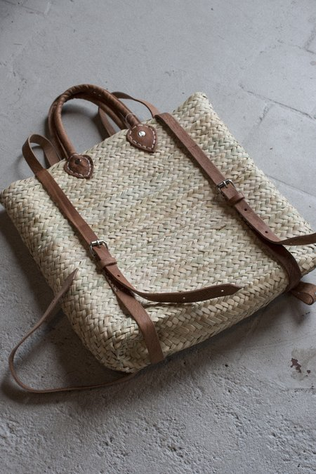 Woven Finds Handwoven Straw Backpack
