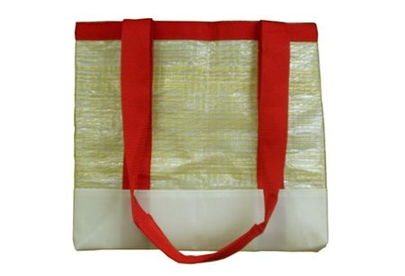 greener grass design SAIL CLOTH UTILITY BAG - red