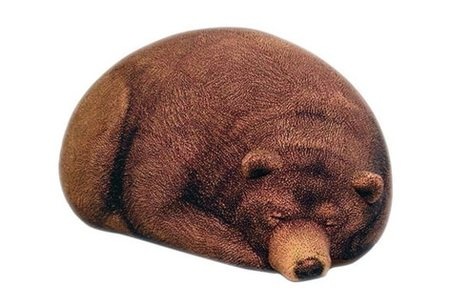 Chic Sin Design BIG SLEEPING GRIZZLY BEAR BEAN BAG