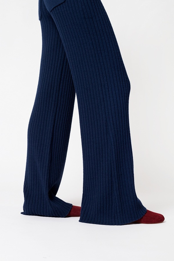 Creatures of Comfort Ribbed Long Pant - navy