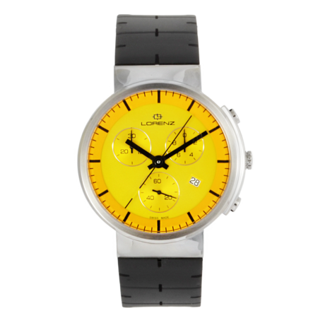UNISEX Lorenz Culdesac Neos Chrono Watch - Yellow/Black