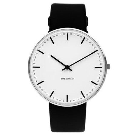 Rosendahl RD-53202 Arne Jacobsen New City Hall 40mm Wrist Watch - BLACK/WHITE