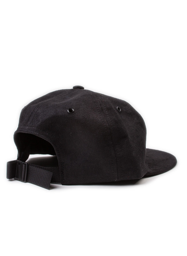 Norse Projects Fake Suede 6 Panel Cap Black