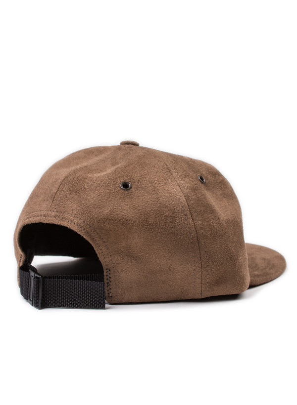 Norse Projects Fake Suede 6 Panel Cap Mocha