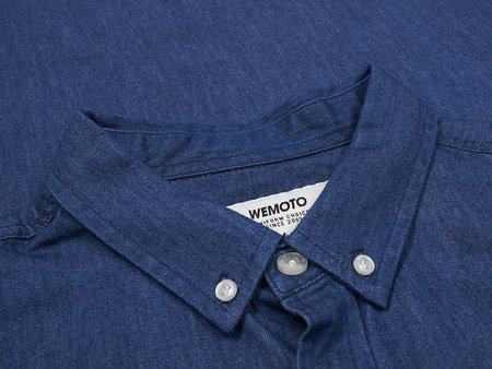 wemoto light shirt - BLUE DENIM