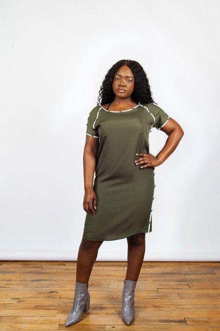Sara Duke Riley Dress - army green