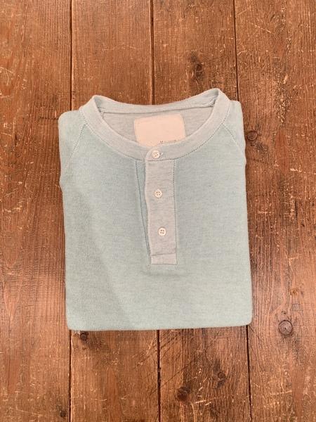 V Room Vintage Mini Fleece Short Sleeve Henley - turquoise