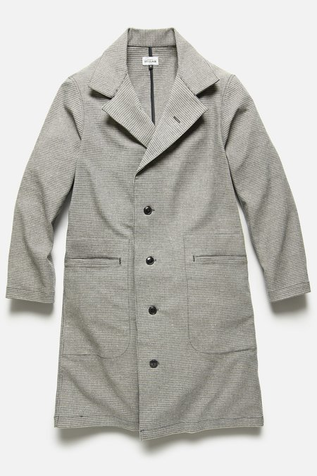 House Of St. Clair Spring Overcoat - Blue/Khaki Houndstooth