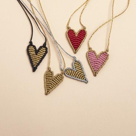 Aliki Heart Macramè Necklace