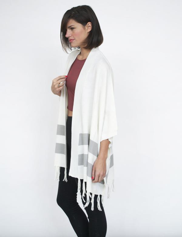 Lumiere Striped Fringe Sweater