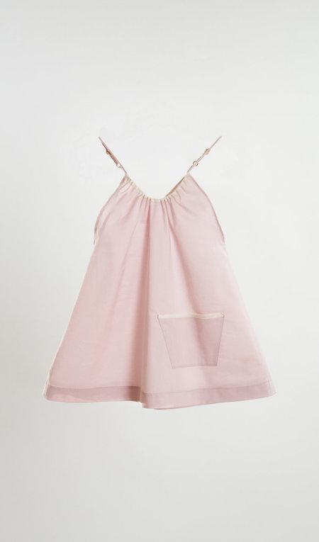 Kids Petit Mioche Organic Cotton Tank w/ Pocket - Light Pink