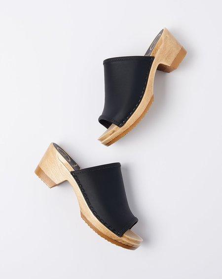 c38413d7ea62 No.6 Daria Clog on Mid Heel - Black ...
