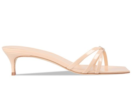 BY FAR Libra Patent Leather Mule - Nude