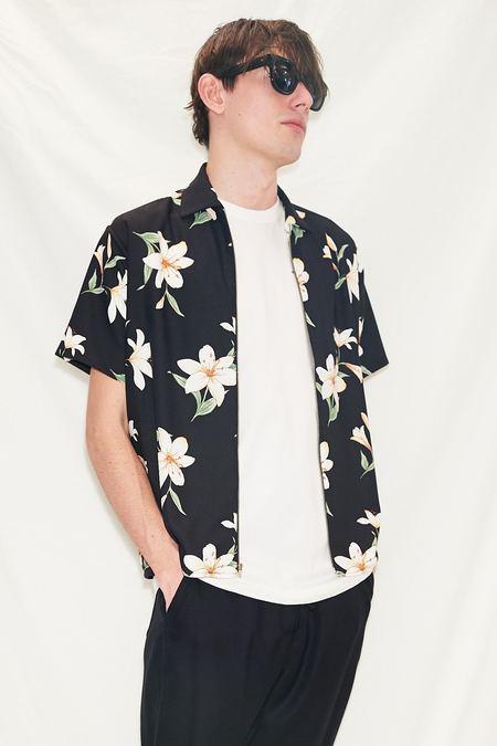 Assembly Zip Camp Shirt - Black Floral