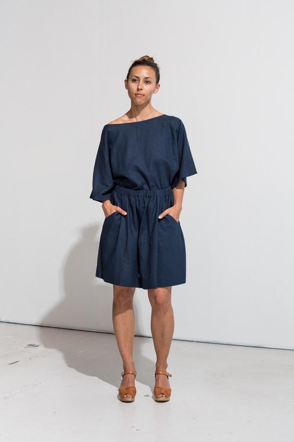 Nahanni Arntzen denis skirt- midnight linen