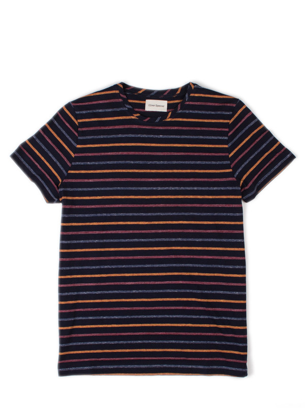 Men's Oliver Spencer Breton Tee Navy/Multi