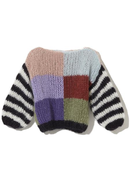 Maiami Mohair Big Sweater - Multicolor