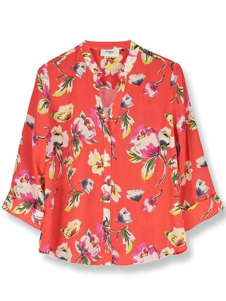 Pyrus Hive Floral Blouse - Tuscan red