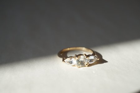Foe and dear Belle Ring - White Sapphires