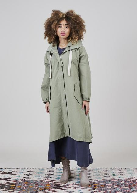 G-Lab Soley A-Line Coat - Olive