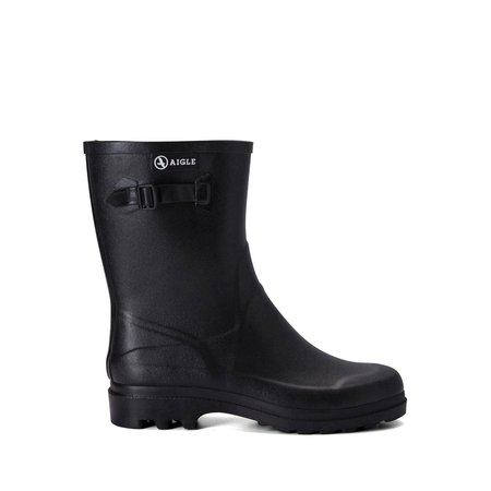 Aigle Icare Rubber Ankle Boots - Black
