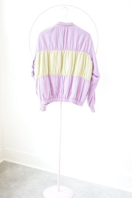 Backtalk PDX Vintage Silk Bomber Jacket - purple
