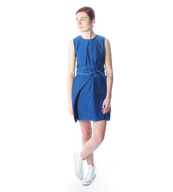Caron Callahan Indigo Hadley Dress