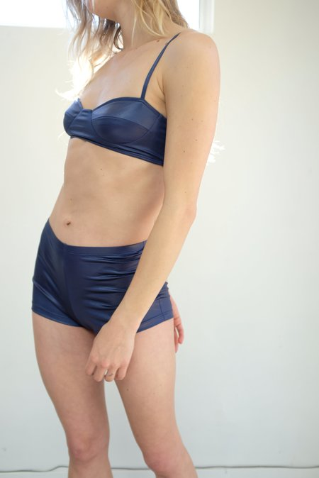 Maryam Nassir Zadeh MNZ Eldorado Swimsuit - navy