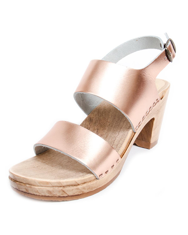 no 6 harper high heel sandals in rose gold garmentory. Black Bedroom Furniture Sets. Home Design Ideas