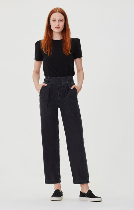 Citizens of Humanity Cassidy Pleat Pocket Pant - Washed Black