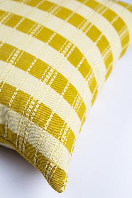 Archive New York Santiago Grid Pillow - Butter