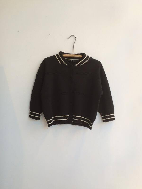 DIARTE CRIS CARDIGAN – BLACK & OFF WHITE