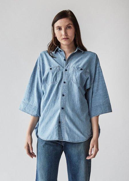 R13 Kimono Shirt - Faded Indigo