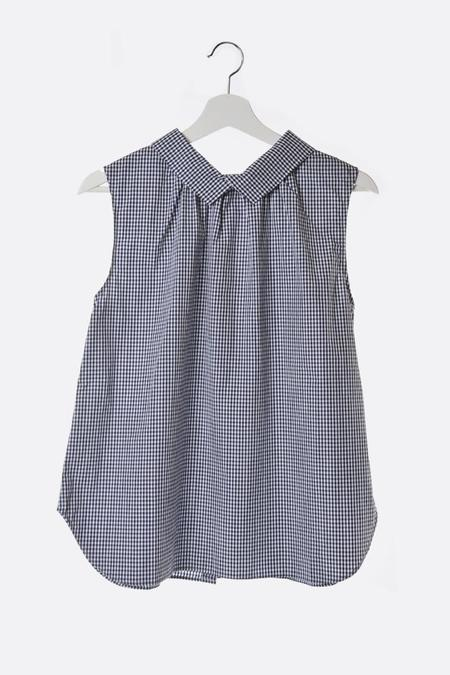 Chimala Blouse with Back Buttons - Gingham Check