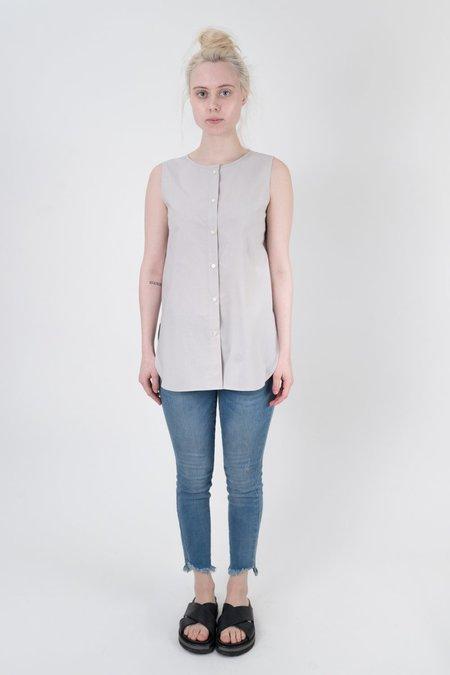 NICO Jane Sleeveless Cotton Top - GRAY