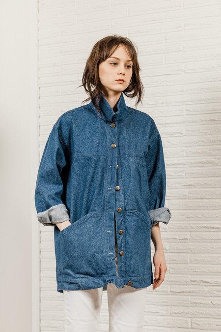 Kate Towers Oversized Denim Jacket - Classic Blue