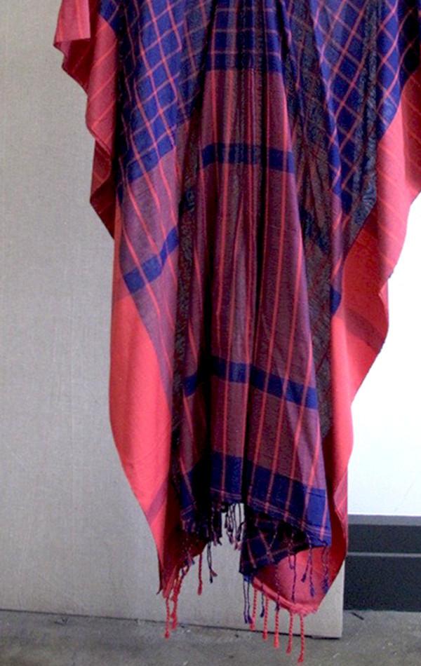 Ultra violet sari caftan