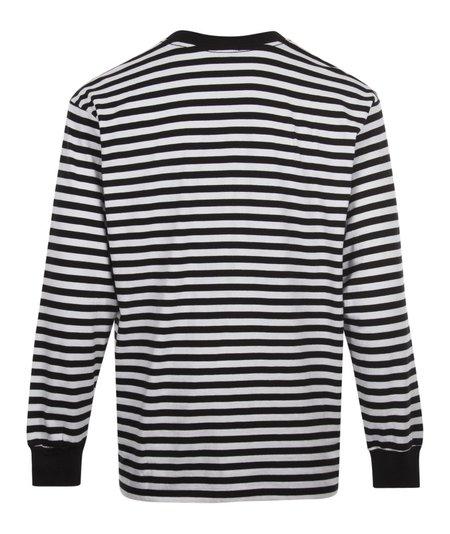 Obey 89 Icon Stripe Box Long Sleeve Tee - Black