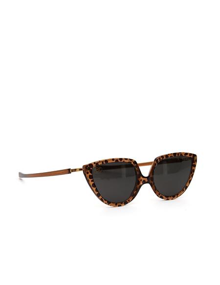 Mykita + Martine Rose SOS Sunglasses - Topaz Leopard