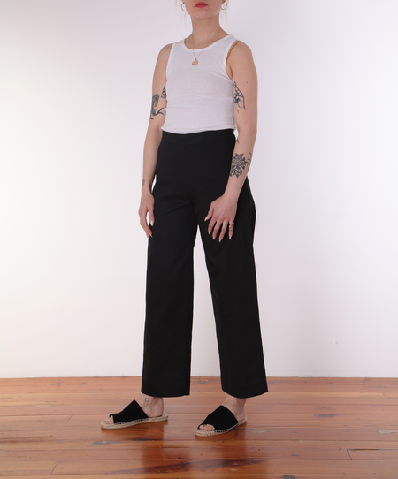 Ali Golden Side Zip Pant - Black