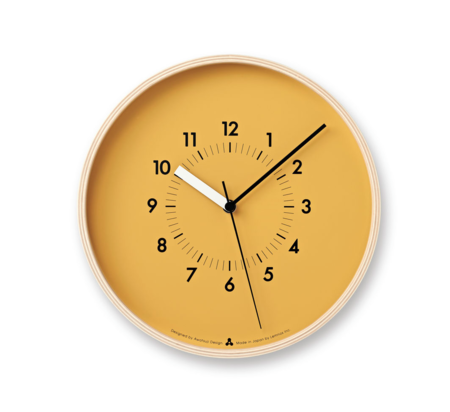 Lemnos Soso Wall Clock - Orange