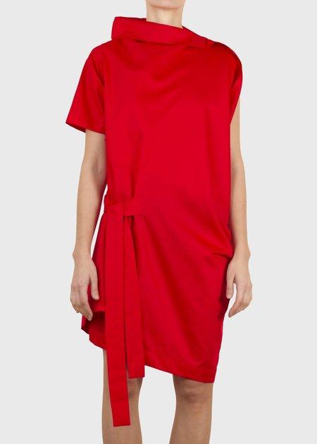 complexgeometries crimp tunic - red