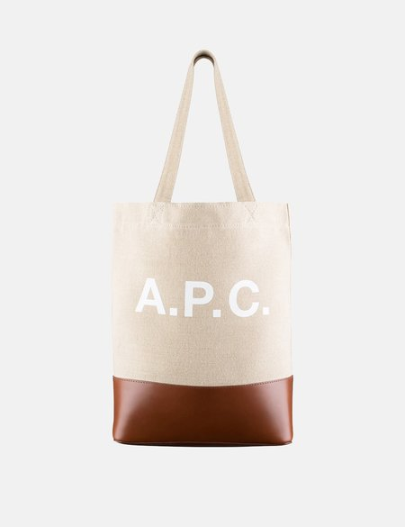 A.P.C. Axel Tote Bag - Hazelnut Beige/Brown