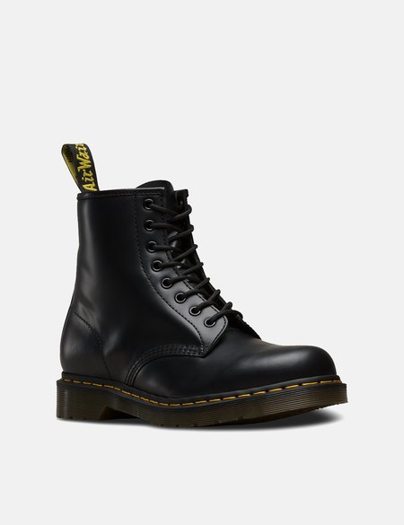 Dr. Martens 1460 Boots (11822600) - Black Smooth/Yellow Stitching